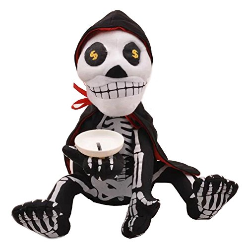 artbro Funny Skelett geld Box Spardose Weich Spielzeug mit Musik und Tanz