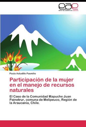 Participación de la mujer en el manejo de recursos naturales