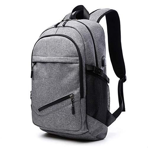 Herren Taschen Schulter Multifunktions Zwei Artmens Sporttasche Basketball Großvolumige Fashion Rucksack mit USB-Männer Tasche (Color : Black, Size : S)