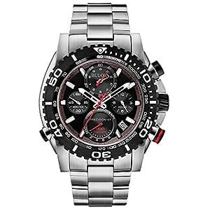 Bulova - 98B212 - Montre Homme - Quartz - Chronographe - Aigulles luminescentes/Chronomètre - Bracelet Acier Inoxydable Noir