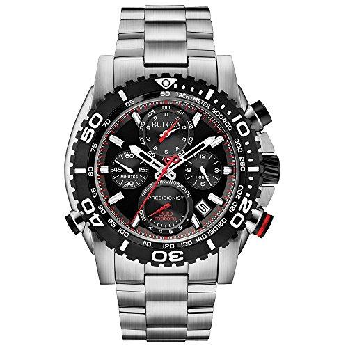 bulova-precisionist-chronograph-herren-armbanduhr-uhf-mit-schwarzem-zifferblatt-und-silber-edelstahl