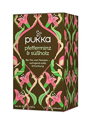 PUKKA Bio Pfefferminz & Süßholz Tee, 1er Pack (20 x 1,5 g Teebeutel) - BIO