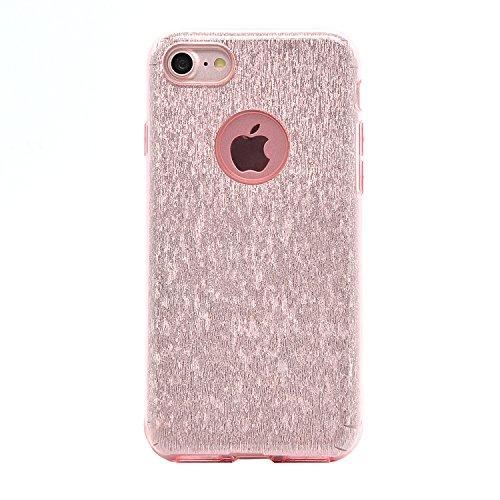 Sunroyal iPhone 7 Bling Diamant Kristall Crystal Hülle Transparent Durchsichtig Bumper Rahmen TPU Weich Bling Case / Hülle / Tasche Etui Schutzhülle für iPhone 7 (4.7 Zoll) Strass Handytasche Sparklin Pattern 15
