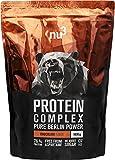 nu3 Protéine Complexe 1kg Poudre Chocolat - 81% De Protéine Et 5,3g De BCAA - À Base De Lait, Whey Et Oeuf - Contribue À La Prise De Masse Musculaire Pour Les Sportifs - Excellente Solubilité