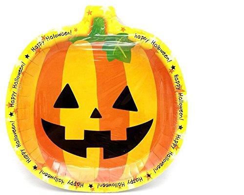 (Unicoco Halloween Teller 6Kürbis Gericht Einweg Tablett)