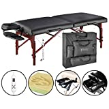 Master Massage 70cm Montclair Therma Top Portable Massage Table Therapy Beauty Bed Couch in Black (UK)