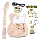 yibuy arce 2Single Coil Pickup 21/22F TL Guitarra eléctrica DIY Kit Set con todos los accesorios para guitarra Builder