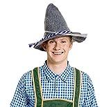Seppelhut Filzhut Oktoberfest Fasching Karneval Hut (blau)