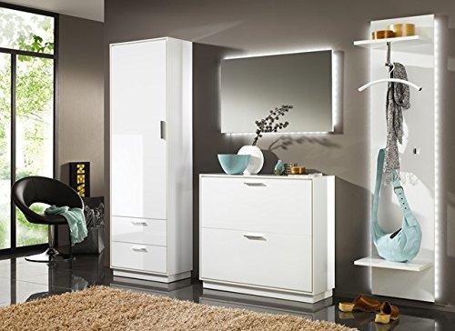Elegance Garderobenschrank Kommode Sideboard Schrank Weiß Hochglanz NEU!