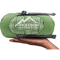 normani Mini Schlafsack Tinbo SUPER KOMPAKT! Wasserdichtes Obermaterial mit Steppmuster, 3D Mikrofaser Microtech Füllung mit Daunen, 240 T R/S Nylon