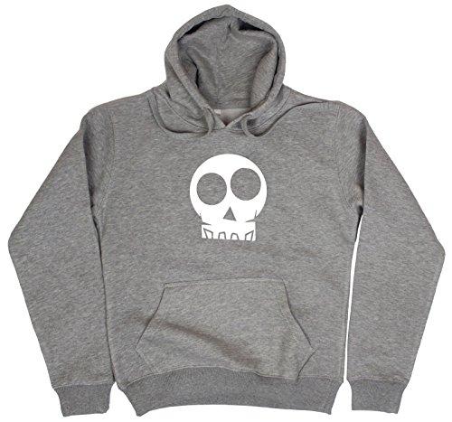 Womens Hallowen Print Hoodie Bones Skull X-Ray Devil Skelton Fancy Dress Costume Top Jumper Grey Size XL