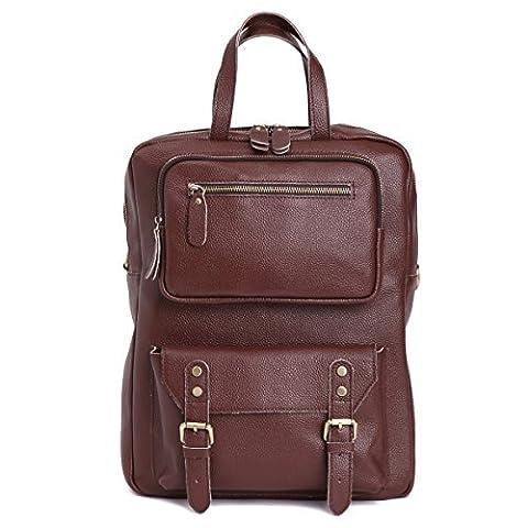Leathario sac cartable sac a dos sac cartable cuir veritable sac loisirs pour hommes sac cartable scolaire pour garcon