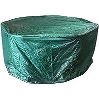 Ballery Funda Jardin Exterior, Cubiertas de Muebles, Grandes sillas de Mesa de Jardín al Aire Libre Redondo Protección de Muebles Cubierta del Patio a Prueba de Agua Protección UV (188*84cm)