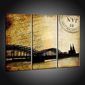 Kunstdruck moderne kunstbilder von k ln attraktionen auf leinwand in 70x90 cm k che - Moderner kunstdruck leinwand ...