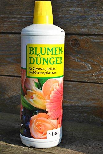 Blumendünger,flüssig,Floralin,Zimmer,-Balkon-und Gartenpflanzen,4 X 1 Ltr.