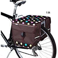 beluko haut-Double sacoche de vélo vélo Shopping navetteurs Dots@Brown