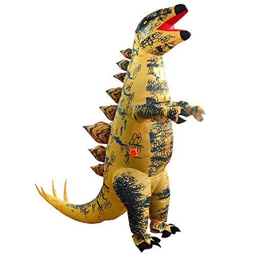 TIKENBST Halloween Schmuck Dinosaurier Tyrannosaurus Aufblasbare Kleidung Schwert Drachen Leistung Kostüm Erwachsene Kinder Halloween Show - Südamerika Kostüm Kinder