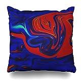 suesoso Dekorative Kissen Fall 45,7x 45,7cm Zwei Seiten bedruckt blau rot Öl und Acryl Abstrakte Kunst Leinwand Farbe Neon Paint Modern Colorful Überwurf Kissenbezug Dekorative Home Decor 18 x 18 Gold Grey4