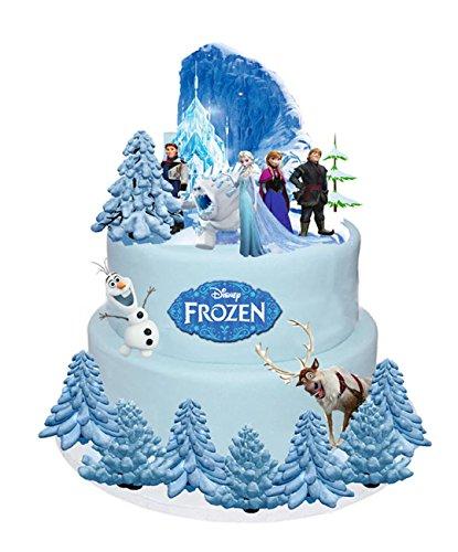 Disney La Reine des neiges Décors de gâteau en gaufrette Elsa Anna Olaf, 31 pièces