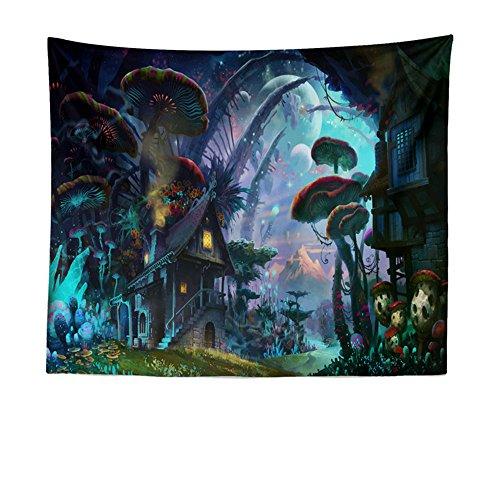 KaO0YaN Hippie Mandala Tapices, Bohemio Tradicional Colgante Decoración, Indio Boho Gypsy Algodón Mantel Toalla de Playa, Tapiz de Pared Colgante, Dream Forest House, 200x150cm