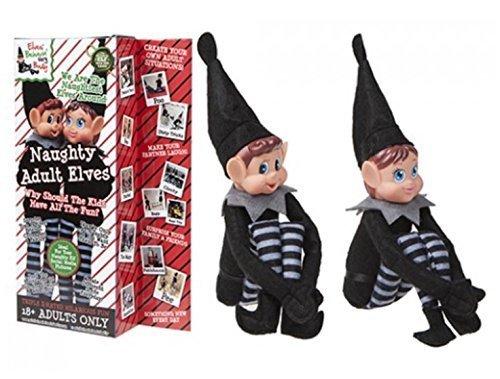 ughty Adult Mischievous Weihnachten Elf - Boy & Girl (Elf Auf Dem Regal Erwachsenen)