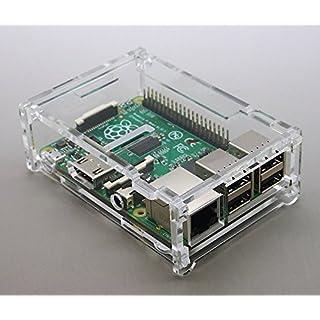 transparentes Acryl Gehäuse für Raspberry Pi B+ Plus mit klappbarem Deckel by avc-shop
