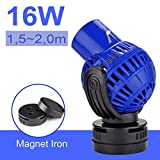 EXLECO JVP-133 Pompa di Movimento,Pompa a Flusso Wavemaker 10000L/H 16 Watt Pompa di Circolazione Pompa ad Onda Girevole per Acquari d'Acqua Dolce e Salata 150~200cm
