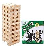 Garden Games Hi-Tower in Una Borsa – Impila da 0.9 Metri Fino a 2.3 Metri di Altezza – Gioco Della Torre in Legno – Base Stabile di 28.5 Centimetri Ideale per L'Uso su Erba
