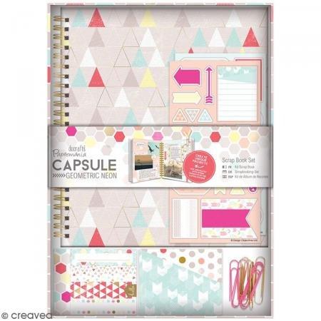 DocRod LLC Papermania Capsule Geometrische Scrap Book Set, Neon