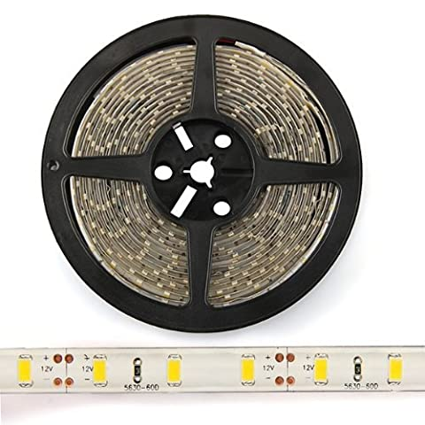 SODIAL(R) 5M Warmwei? SMD 5630 LED 300 Strip Streifen Leiste Flex Licht Band Farbwechsel Strip
