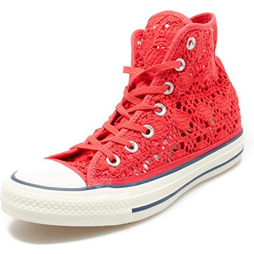 Converse Donna All Star Hi Sneakers stringate Brake Light/Navy/Egret