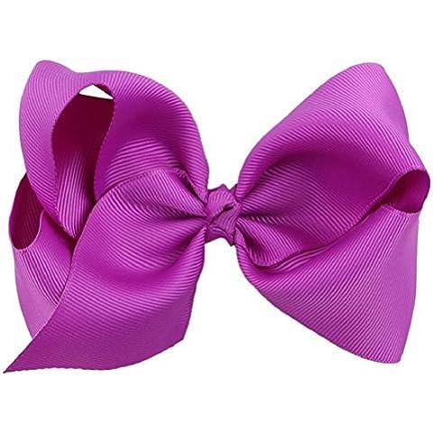 Tongshi Clip nudo de la mariposa del pelo de los niños (Púrpura)