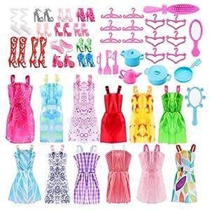 46 pezzi accessori per barbie barbie abito gonna moda for Accessori per barbie