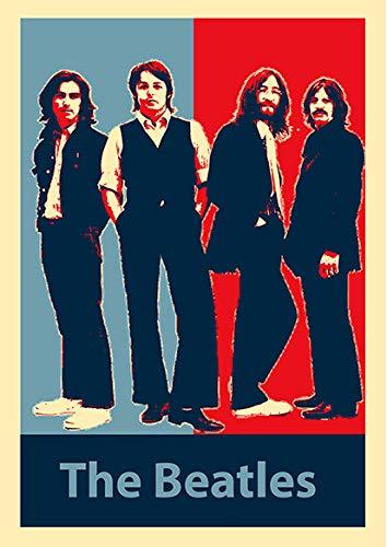 General Art Wandkunst Propaganda-Stil Musikstars Sänger Die Beatles N2 Poster drucken Größe A3 (30 cm x 42 cm) Ungerahmt...