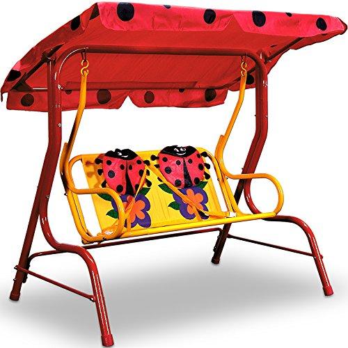 balancelle-pour-enfants-jardin-avec-auvent-rouge-motifs-coccinelle-beetle