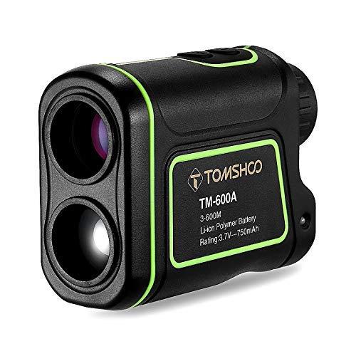 TOMSHOO Golf Entfernungsmesser 600/1000 Yards Laser Entfernungsmesser 7X Messbereich Finder mit IP54 wasserdicht für Golf und Jagd (600 m)