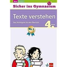 Klett Sicher ins Gymnasium Deutsch Texte verstehen 4. Klasse: Das Wichtigste für den Übertritt
