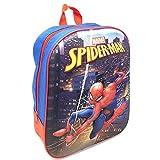 zaino 3D con LED Spiderman Uomo Ragno Marvel Asilo Borsa Scuola CM.32 - SP0459