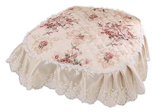 European Style Lace Stuhl Pads Anti-Rutsch-weichen Esszimmer Stuhl Kissen, Beige weiß