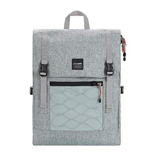 Pacsafe Slingsafe LX450, Anti-Diebstahl Rucksack, Daypack mit Sicherheitstechnologie, 15 Liter, Grau Meliert/Tweed Grey