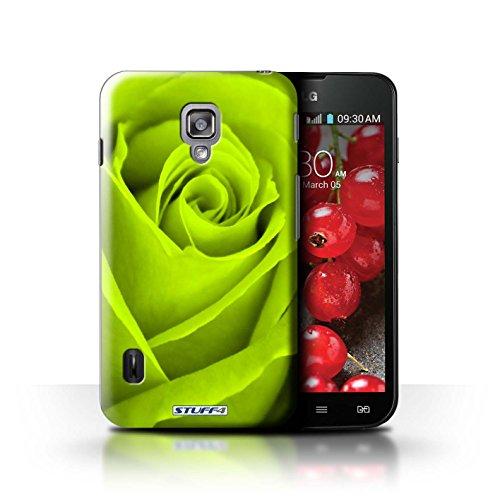 Kobalt® Imprimé Etui / Coque pour LG Optimus L7 II Dual / Orange conception / Série Rose Vert