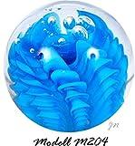 Traumkugel- Briefbeschwerer medium: Motiv blaue Wellen - Handarbeit