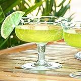 drinkstuff Einweg-Margaritaglas, Plastik, 180ml, 12Stück