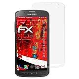 Samsung Galaxy S4 Active Panzerfolie - 3 x atFoliX FX-Shock-Antireflex blendfreie stoßabsorbierende Panzerschutzfolie Displayschutzfolie