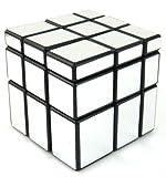 Mirror Blocks Shiny Silver Black Frame Magic Cube Puzzle Brain Teaser- MC333
