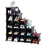 Songmics Interlocking Shoe Rack - Extra Big Cube, Black LPC44H