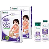 Himalaya Total Care Baby Pant Diapers Monthly Pack Large 108 Count With Powder100g And Bath(100ml)