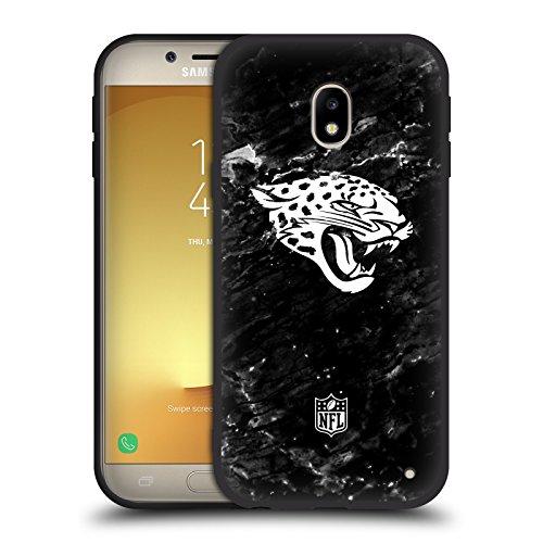 Offizielle NFL Marmor 2017/18 Jacksonville Jaguars Skinny Fit Hybrid Glasiert Hülle für Samsung Galaxy J3 (2017) (Jacksonville Jaguars-platte)