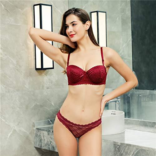 DKNBI BH Push Up Lady B Cup Unterwäsche Sexy Lace Frauen Floral Bralette - 5