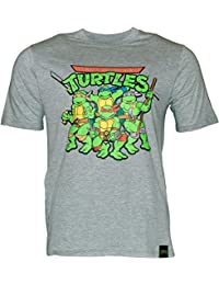 laylawson Herren TMNT Teenage Mutant Ninja Turtles 100% Baumwolle Kurzarm T-Shirt Top Retro
